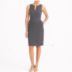 J crew Polka-dot split-neck dress 12 black
